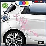 Stickers pour Voiture–Fleurs et farfalle- Voiture Machine–Nouveauté....