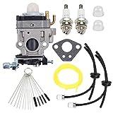 Trustsheer MC43 300486 Carburetor w Repower Tune-Up Kit for Earthquake Ardisam E43 Auger 11334 43CC 51.7CC 2 Cycle Carb MC43CE MC43E MC43ECE MC43RCE Tiller Cultivator Parts