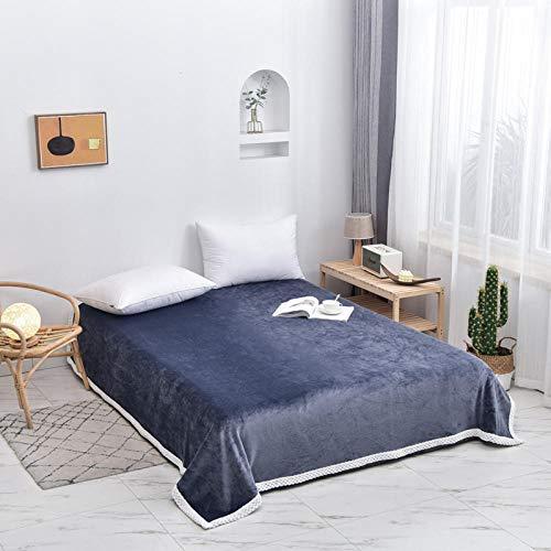 FRTU sofa snuggle blankets for adults,Flannel fleece soft blanket for cushion/sofa/chair/sofa/lightweight, warm and comfortable-Light blue_200*230cm/1.5kg