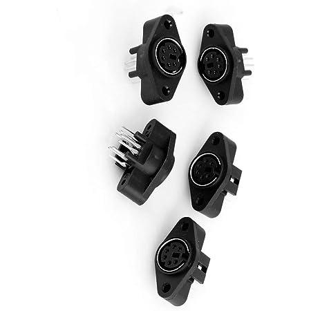 Dabixx 10 Stück 3 4 5 6 7 8pin Buchse Für Buchsenmontage Din Adapter Midi Kabelanschluss Küche Haushalt