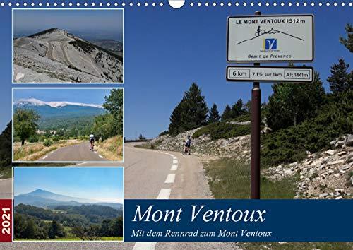 Mit dem Rennrad zum Mont Ventoux (Wandkalender 2021 DIN A3 quer)