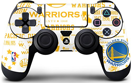 Skinit Decal Gaming Skin for PS4 Controller - Officially Licensed NBA Golden State Warriors Historic Blast Design