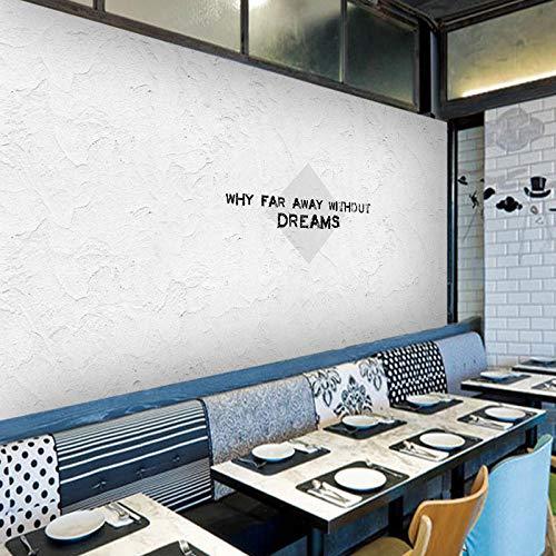 CQDSQN Wandaufkleber Nordischer minimalistischer Weißzement Tapete Wandgemälde PVC 3D Selbstklebend Modern Kunst Poster Fotos Thema Szene Wandgemälde Zuhause Schlafzimmer Hintergrundwan(B)250x(H)175cm