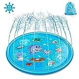 ELECTRAPICK Sprinkler Matte Kinder Wasserspielzeug Garten 175cm Wasserspielmatte mit...