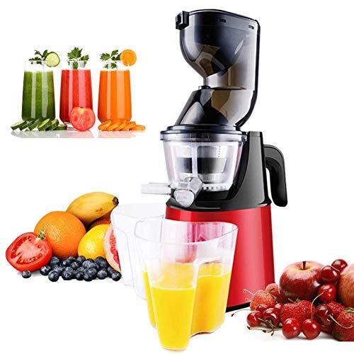 Máquinas de expresión, exprimidor de prensa en frío, extractor de expresión de masticación lenta, función inverso del motor silencioso, fácil de limpiar, sin BPA para el jugo de verduras de fruta de a