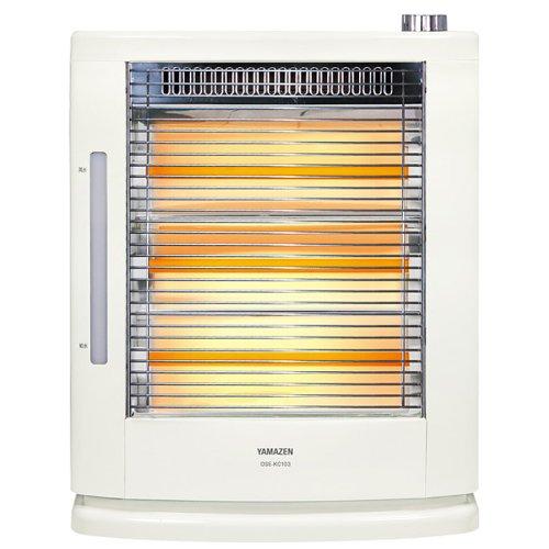 山善 遠赤外線電気ストーブ(990W/660W/330W 3段階切替)(スチーム式加湿機能付) ホワイト DSE-KC103(W)