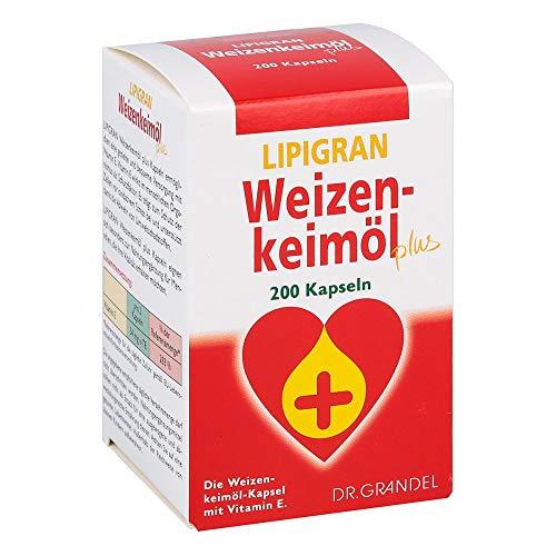 LIPIGRAN 1000 Weizenkeimöl plus, 200 St. Kapseln