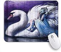 マウスパッド 天使の羽満月 ゲーミング オフィス最適 高級感 おしゃれ 防水 耐久性が良い 滑り止めゴム底 ゲーミングなど適用 用ノートブックコンピュータマウスマット