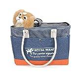 Jnzr Haustier-Reiserucksack, Faltbarer Träger für kleine Katzen und Hunde Tragbar Ausgehen Haustierhandtasche Bequem und langlebig Leicht zu reinigen 40 * 18 * 29cm,Blue