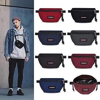 New Fashion Men Bum Bag Waist Packs Canvas Fanny Bag Belt Pouches Chest Bag (Multi-Color,Dark red)