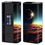 Skin Decal Vinyl Wrap for Joyetech Cuboid 150W TC watt Vape Mod Box / moon planet eclipse clouds
