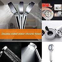 シャワーキャディー 浴室のシャワーヘッド、バスルームのため、両面調節可能なシャワーヘッド、スパの圧力フィルターをハンドヘルド
