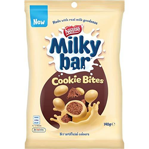 Allens Milkybar Cookie Bites 140g x 12