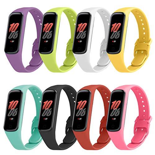 FYTENG 8 Color Correas De Perfectas Y Compatibles Con La Pulsera Samsung Galaxy Fit2, Material Cómodo Y Agradable Para La Piel / Correa Reemplazable De Silicona(solo Para Galaxy Fit2)