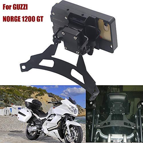Motorcycle Windshield Stand Holder Teléfono Teléfono móvil GPS Placa de navegación Bracket F900XR para Norge 1200 GT Soporte de navegación de teléfono móvil dedicado (Color : USB and Wireless)