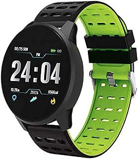 Hngyanp Deportes Inteligente Impermeable Actividad física pulsómetro rastreador Reloj Inteligente de Pantalla táctil Reloj Hombres y Mujeres del Reloj de la presión Arterial Bluetooth GPS Android iOS
