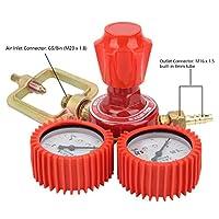 YQE-03A減圧弁、G5 / 8in耐久性のある赤M16X 1.5内蔵8Mmチューブ減圧弁、大流量4Mpa入力0.25Mpa出力(12m / h)0.01-0.15Mpa