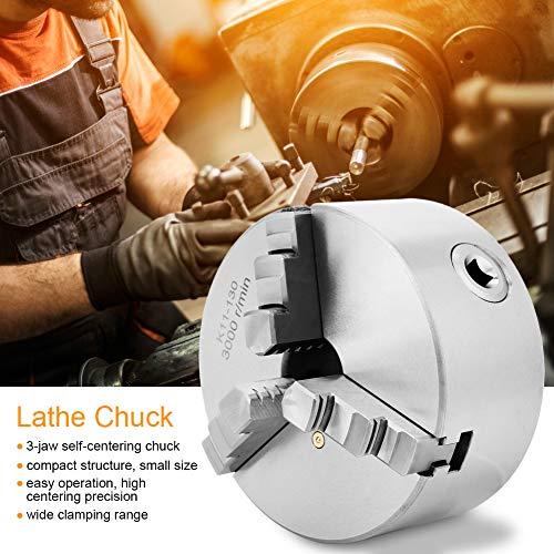 5.1 inch 3-klauwplaat, 3800r zelfcentrerende, onafhankelijke, omkeerbare klauwplaat K11-130, precisie metalen klauwplaataccessoires