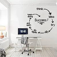 オフィスウォールステッカーオフィスデコレーション起業家の成功はホームオフィスデコレーションデカールビニールアートデカール42X46cmのウォールステッカーを引用します