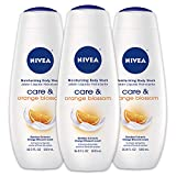 NIVEA Care & Orange Blossom Moisturizing Body Wash - Fresh Scent for Normal Skin - 16.9 fl. oz. Bottle (Pack of 3)