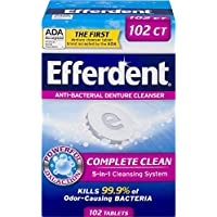 Efferdent Denture Complete Clean 102 Count Cleanser Tablets