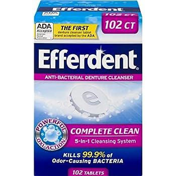 Efferdent Denture Cleanser Tablets Complete Clean 102 Tablets