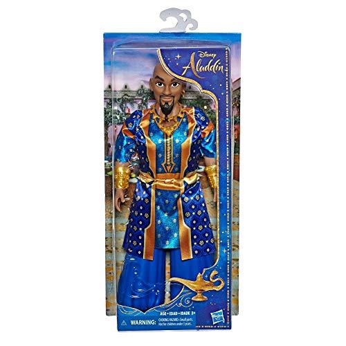 Disney Princess E6478ES0 Genie Fashion Puppe in Menschenform, bewegliche Figur mit Kleidung und Zubehör, inspiriert von Disneys Aladdin Live-Action Film, Spielzeug für 3 Jahre