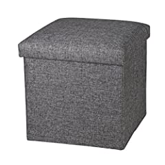Stylish and Functional: Fashion design, Can be used at home as a cube ottoman/footrest stool/coffee table, also can be used outdoor as a camping or fishing stool, lightweight and foldable Comfortable Seating:High Quality PU leather, super thick high ...
