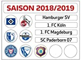 DFL 2. Bundesliga Magnettabelle - Update-Set (Saison 2018-2019) -