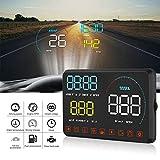自動車診断プラグアンドプレイ輝度調整可能HUDディスプレイ、車のヘッドアップディスプレイ、データ表示用の5.5インチユニバーサル運転データ車のセキュリティ