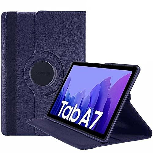 Capa Tablet Samsung Galaxy Tab A7 10.4 T500 T505 Giratória Executiva Rotação Azul Marinho