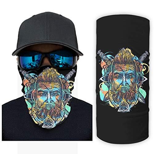 NA Cool Scandinavisch viking-oorlogger, twee draak, Keltisch triskele, knoop, tatoeage, opdruk, bandana, gezichtsmasker, zonnebescherming
