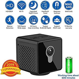 Mini Spy Camera | Super Valuable Wide Angle Home & Office HD Hidden Camera w/Night Vision & Motion Detective, Best for Secret, Outdoor, Nanny & Security Wireless Camera | by YOUMA.