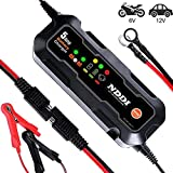 NDDI Car Battery Charger, Automatic Battery Charger/Maintainer, 6V 12V 5A Quick Smart Trickle Battery Charger...
