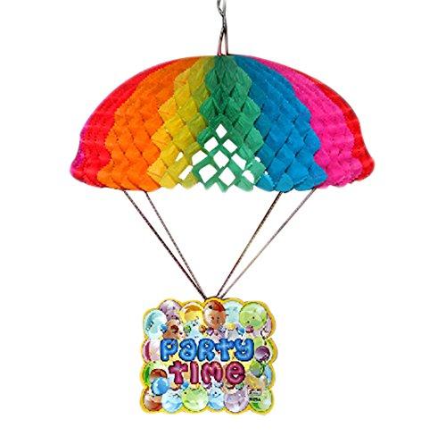 Milopon Geburtstag Deko Fallschirm Hängedeko Dekoration Kind Baby Geburtstag Party oder andere Anlässe