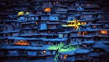 non branded Village Lights Houses Painting 1000 Decoraciones de Rompecabezas