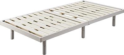 アイリスプラザ ベッド セミダブル すのこベッド 通気性 3段階高さ調整 DBB-3HSD ホワイト