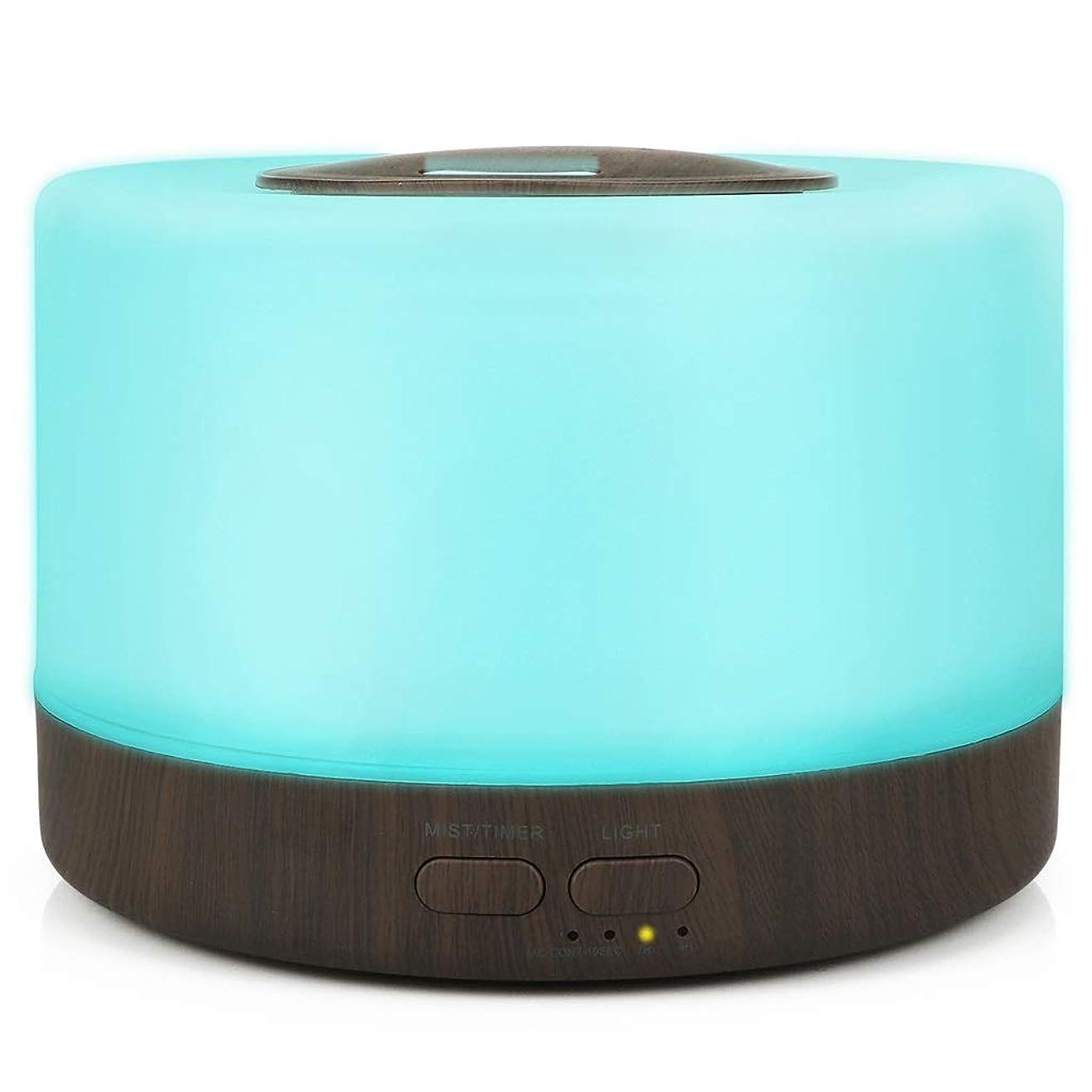 リードディフューザー 電子拡散アロマ加湿器アロマランプカラフルな超音波ミュートアロマセラピーマシンエアアロマミニ加湿器500ミリリットル YHDD (Color : B)