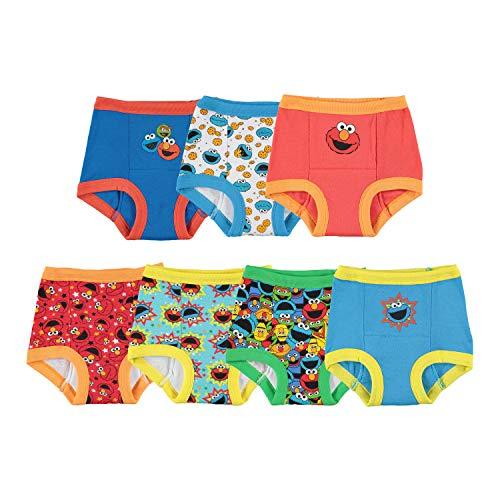 Sesame Street Unisex-Baby Toddler Boys' Potty Training Pants Multipack, SesameB7pk, 2T
