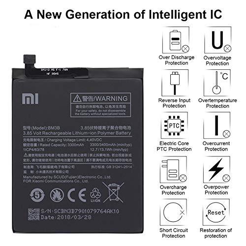 MLTrade - Bateria Original Xiaomi BM3B para Xiaomi Mi Mix 2, 3300mAh, Embalaje Bulk con Bolsa Anti-estática