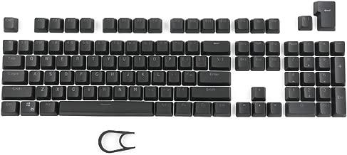 Seiorca 104 PBT Keycap Set Doubleshot Backlit Keycaps for Mechanical Keyboard with Key Puller-Black