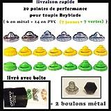 20 pointes de performance+ 2 boulons metal VJ pour toupie beyblade , beyblade metal fury et beyblade shogun steel