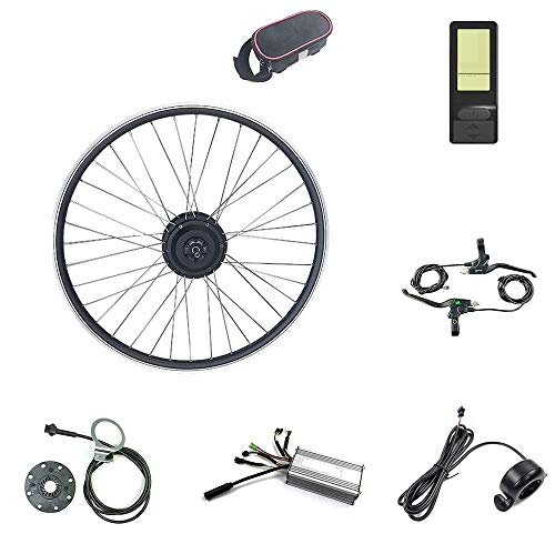 Kit de conversión de Bicicleta eléctrica Rueda de Motor Delantera 16-29 Pulgadas Rueda 700C 36V 48V 500W con KT LCD4 -Mini Display Ebike Kit (Color : 48V, Size : 29 Inch)