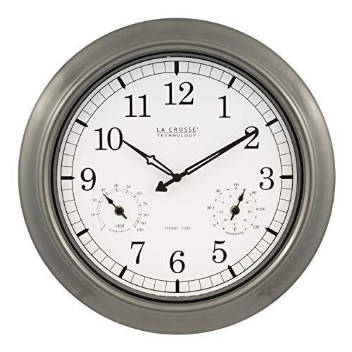 La Crosse Technology WT-3181PL-INT 18 inch Atomic Outdoor Clock