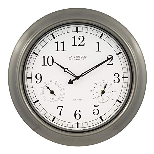 La Crosse Technology Atomic Outdoor 18 in. Wall Clock