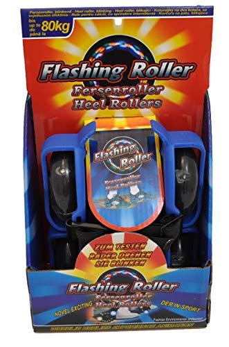 jameitop®💥Fersenroller 3-Front-LED Licht Schuhe Roller blau Rollschuhe zum umschnallen 💥