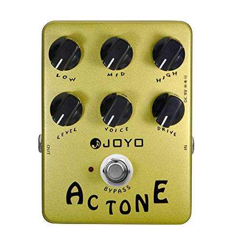 JOYO JF-13 AC Tone AMP Pedal Effect Simulation Amplifier Effects Pedal Analog Vox AC30 Classic British Rock Sound Pedal for Electric Guitar True Bypass