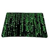 Pedea Gaming und Office Mauspad - 220 x 180 mm - mit vernähten Rändern und Rutschfester Unterseite, Matrix
