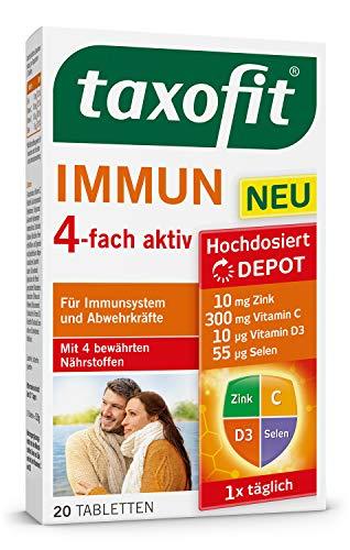 taxofit® Immun 4-fach aktiv Tabletten für Immunsystem und Abwehrkräfte (1x 20 Tabletten)