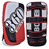 Twister Boxing Kick Shield 100% Cowhide Leather Thai pad MMA Muay Thai Shield Curved Pads Martial Art Training Pads Boxing Strike pad Curved Arm Pad